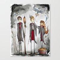 potter Canvas Prints featuring Potter Love by Jena Sinclair