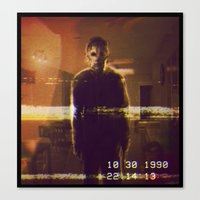 michael myers Canvas Prints featuring Michael Myers VCR by Cinemamind