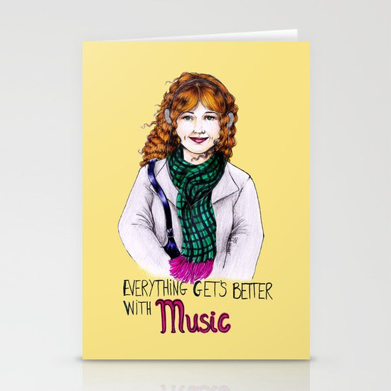 Everything get's better with MUSIC Stationery Cards
