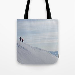 Skiers at Hatcher Pass Tote Bag