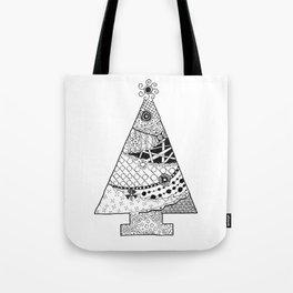 Doodle Christmas Tree Tote Bag