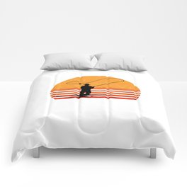 Vintage Fly Fishing Angler Gift Comforters