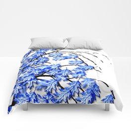 Oak Leaves Blue Comforters