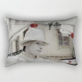 Artist white red Rectangular Pillow