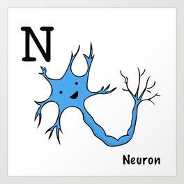 N is for Neuron Art Print