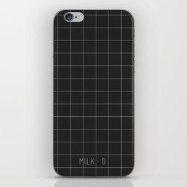 Black Windowpane - Grids iPhone Skin