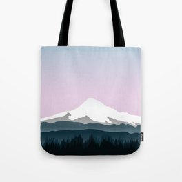 Mount Hood Forest - Pink Haze Tote Bag