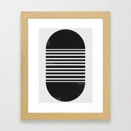 Black Capsule Framed Art Print