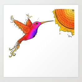 HummingPhoenix Art Print