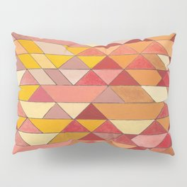Triangle Pattern no.4 Warm Colors Red and Yellow Pillow Sham