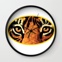 Tiger Eyes jGibney The MUSEUM Society6 Gifts Wall Clock