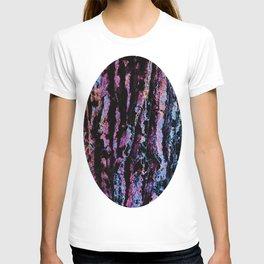 Organic Abstract in Black, Grey, Purple  &  Blues T-shirt