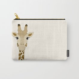 Golden Glitter Giraffe Carry-All Pouch