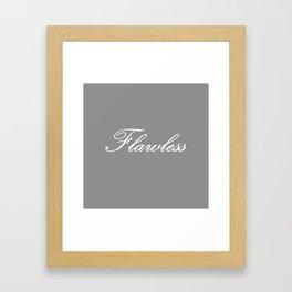 Flawless Gray & White Framed Art Print
