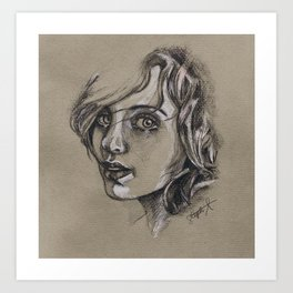 Study of a Girl 1 Art Print