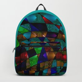 Abstract colorful magic pattern two Backpack