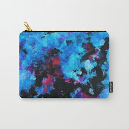 Teal (Blue) Abstract Acrylic Painting Carry-All Pouch