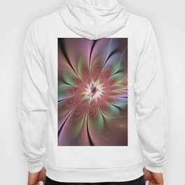 Abstract Fantasy Flower, Fractal Art Hoody