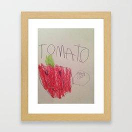 Tomato Says Framed Art Print