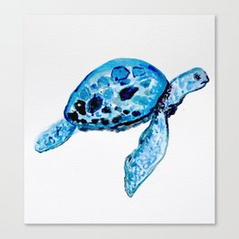 Sea Turtle, Watercolor Print, Turtle Art, Turtle Illustration, Sea,Turtle, Nursery Canvas Print