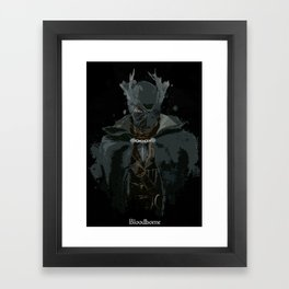 Bloodborne Hunter Splatter Framed Art Print
