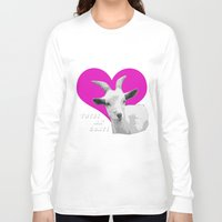 totes Long Sleeve T-shirts featuring Totes Ma Goats - Blue Pink by BACK to THE ROOTS