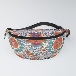 Shakhrisyabz Suzani Uzbekistan Antique Embroidery Print Fanny Pack