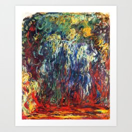 """Claude Monet """"Weeping Willow, Giverny"""", 1922 Art Print"""