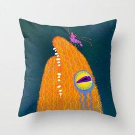 Eel Flower Throw Pillow