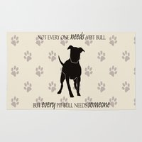 pit bull Area & Throw Rugs featuring Love is a pit bull No. 8 by Shay by design