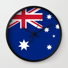 The National flag of Australia, authentic version (color & scale 1:2) Wall Clock