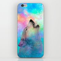 hobbes iPhone & iPod Skins featuring Breathing Dreams Like Air (Wolf Howl Abstract) by soaring anchor designs
