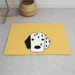 Dog Dalmatian yellow Rug