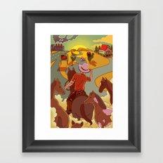 The Horse Problem Framed Art Print