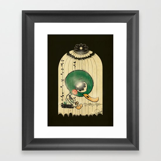 Chinese Idiom: Sitting Duck 插翅难飞 Framed Art Print