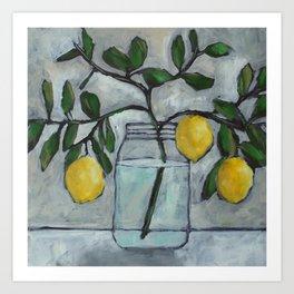 Lemon Branches Art Print