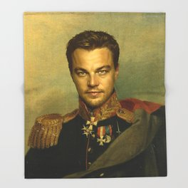 Leonardo Dicaprio - replaceface Throw Blanket
