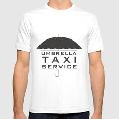 umbrella taxi service Mens Fitted Tee White MEDIUM