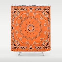 Orange oriental design Shower Curtain