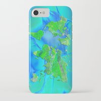 map of the world iPhone & iPod Cases featuring World Map by Roger Wedegis
