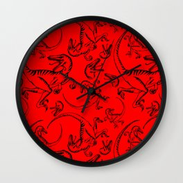 'CLEVER GIRL' Raptor Attack! Wall Clock