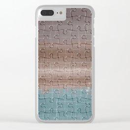 Jig-saw Puzzle Neutral Palette Design Clear iPhone Case