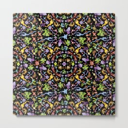 Terrific monsters posing for a colorful pattern design Metal Print