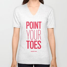 Point Your Toes Unisex V-Neck