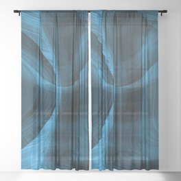 Bluish Black Hole Sheer Curtain
