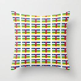 Flag of Central African Republic,car, Bêafrîka,centrafrique,Central African, centrafricain,Oubangui- Throw Pillow