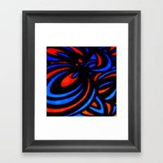 Blue & Orange  Framed Art Print