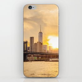 New York city skyline at sunset iPhone Skin