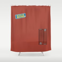 Batteries Not Included ~ Medium Carmine Shower Curtain