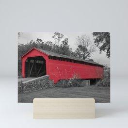 Utica Mills Covered Bridge Mini Art Print
